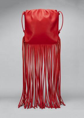 Bottega Veneta Fringe Napa Crossbody Bag