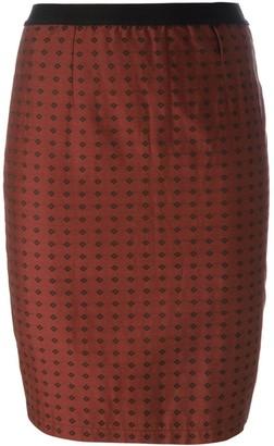 Jean Paul Gaultier Pre Owned Rhombus Print Skirt