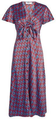 Sandro Paris Scarf Print Maxi Dress