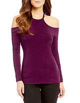 GUESS Jasmine Cold-Shoulder Long Sleeve Knit Top