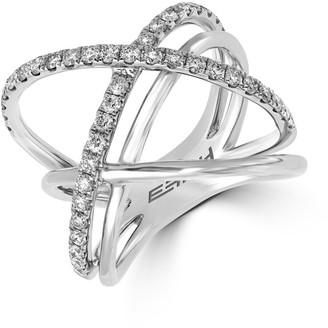 Effy Diamond and 14K White Gold Ring 0.79 TCW