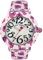 Betsey Johnson Leopard Analog Bracelet Watch