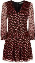Alice + Olivia Tessie Heart Print Mini Dress