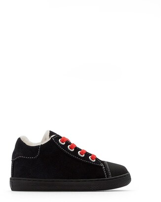 La Redoute Collections Infants Leather High Top Trainers