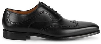 Magnanni Brogue Wingtip Leather Oxfords