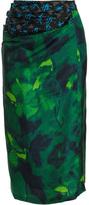 Dries Van Noten Watercolour print skirt