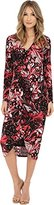 Adrianna Papell Women's Print V-Neck Ruched Dress