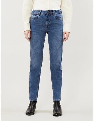 Noisy May Jenna mid-rise straight stretch-denim jeans