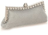 Beauty Women Aluminum Beaded Clutch Bag for Party Elegant Evening Bag for Wedding