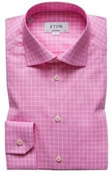 Eton Contemporary Fit Pink Check Dress Shirt