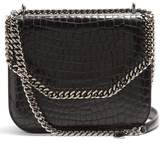 Stella McCartney Falabella Box crocodile-effect cross-body bag