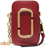 Marc Jacobs Hotshot Two-tone Textured-leather Shoulder Bag