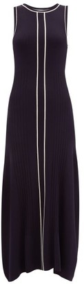 ODYSSEE Striped Knitted Maxi Dress - Navy