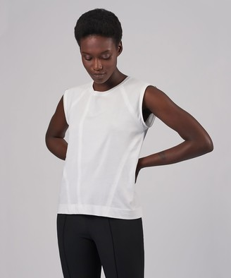 Atm Classic Jersey Raglan Muscle Tee - White
