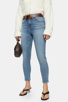 Topshop Womens Petite Mid Stone Five Pocket Skinny Jeans - Mid Stone