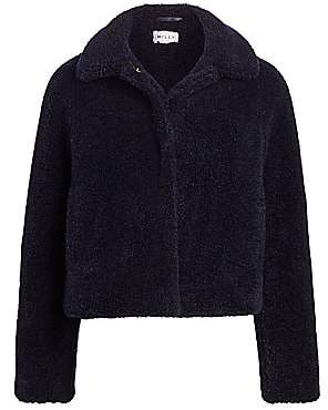 Milly Women's Tricot Faux-Fur Short Jacket