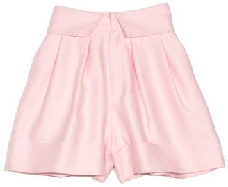 Dice Kayek Pleated Cuffed Shorts in Pink