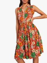 French Connection Iona Valetudo Sleeveless Floral Print Dress, Multi