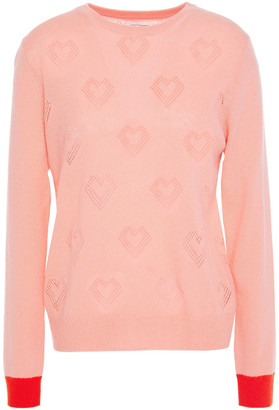 Chinti and Parker Pointelle-knit Wool And Cashmere-blend Sweater