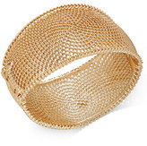 Thalia Sodi Gold-Tone Textured Wide Hinged Bangle Bracelet, Only at Macy's