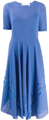 See by Chloe Asymmetric-Hem Layered Dress