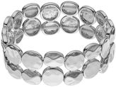 Apt. 9 Hammered Disc Double Strand Stretch Bracelet