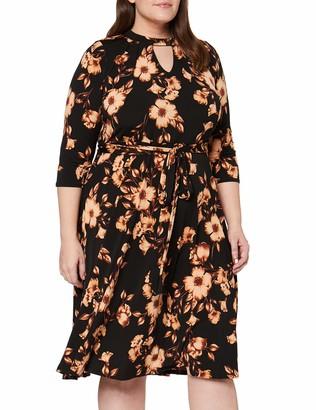 Dorothy Perkins Curve Women's Floral Ity Pleat Neck Dress