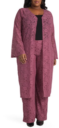 Justice Poetic Danika Floral Lace Duster