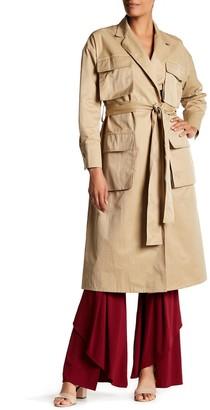 Tov Flap Pocket Trench Coat