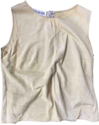 Iris von Arnim Green Leather Top for Women Vintage