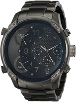"JBW Men's J6248J ""G4"" Multi-Time Zone Lifestyle Gun Metal Watch"