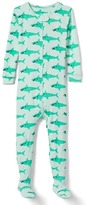 Cool shark footed sleep one-piece
