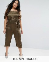 AX Paris Plus Satin Jumpsuit