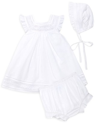 Luli And Me Baby Girl's 3-Piece Lace Hat, Dress & Bloomers Set