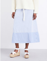 Pringle Stripe-print woven skirt