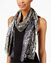 INC International Concepts Snakeskin Printed Wrap and Scarf, Created for Macy's