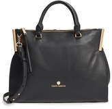 Vince Camuto Tina Leather Satchel - Black