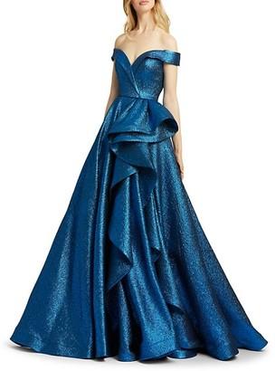 Mac Duggal Ruffled Ball Gown