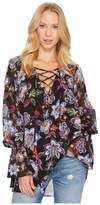 Show Me Your Mumu Perveen Pirate Lace-Up Tunic Women's Blouse