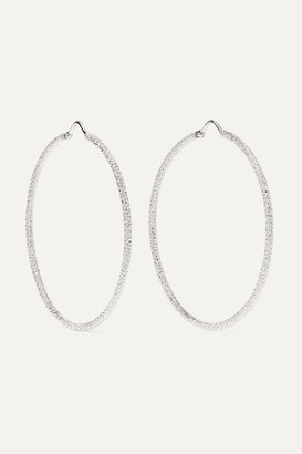 Carolina Bucci Florentine 18-karat White Gold Hoop Earrings - one size