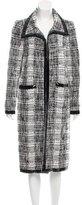 Oscar de la Renta Long Tweed Coat
