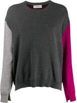 Pringle colour block knitted jumper