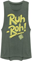 """Scooby-Doo Licensed Character Juniors' Ruh-Roh"""" Muscle Graphic Tee"""