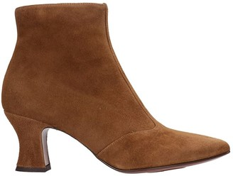 Chie Mihara Vuka High Heels Ankle Boots In Leather Color Suede