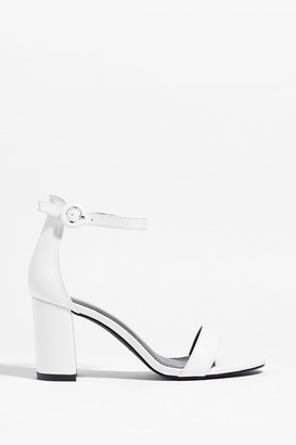 Nasty Gal Womens Made for You Faux Leather Block Heels - White - 3