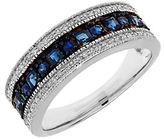 Lord & Taylor Sapphire, Diamond and 14K White Gold Ring
