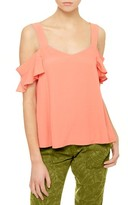 Sanctuary Women's Annie Cold Shoulder Blouse
