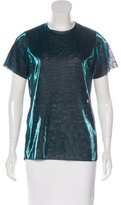 Maje Mesh Metallic Top