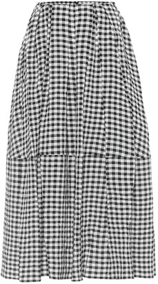 KHAITE Exclusive to Mytheresa Meryl high-rise gingham midi skirt