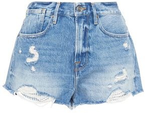 Frame Le Stevie Distressed Denim Shorts